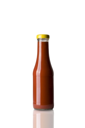 Fresh Ketchup Bottle Isolated on White Background Stock Photo - 8469361