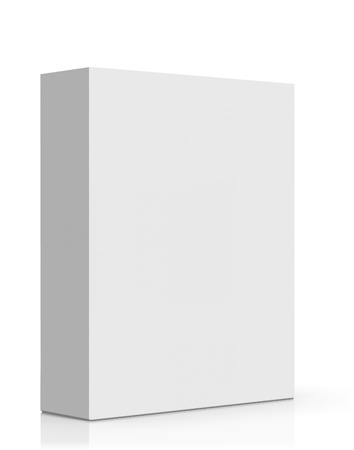 white box: Blank Software Box Isolated on White Background