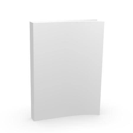 Blank Empty 3d Book Cover Isolated on White photo