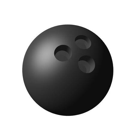 Boule de Bowling 3D isolé sur fond blanc Banque d'images - 8530904