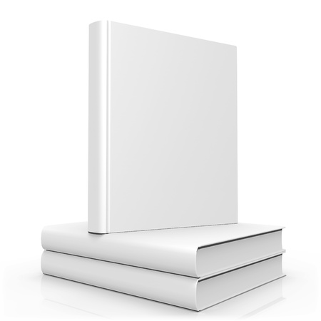 blank space: Blank Empty 3d Book Cover Isolated on White