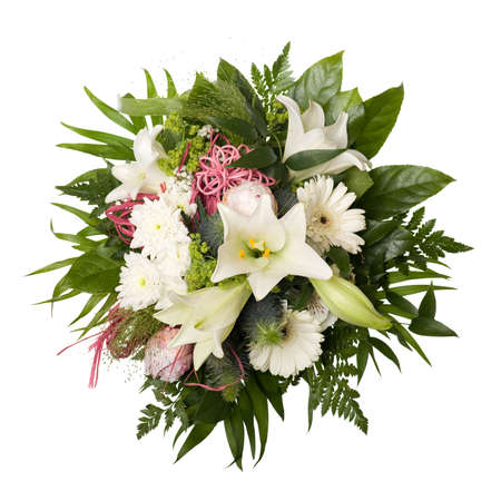 Boquet Bunch of Flower for Special Moments Isolated Stock Photo