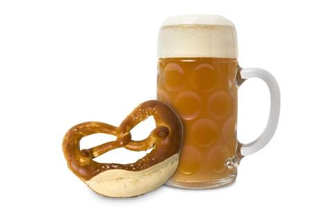 Verre de bière Oktoberfest bavarois isolé sur fond blanc Banque d'images - 8531092