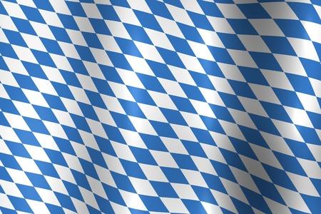 octoberfest: Bandera nacional de Alemania de Baviera en azul y blanco textura Foto de archivo