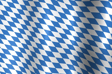 Bavaria Germany National Flag in Blue and White Texture