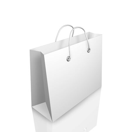 3d Shopping Bag Illustraion Isolated on White Background photo