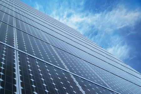 Solar Panel alternative energy technology with sky Stock Photo - 8573990