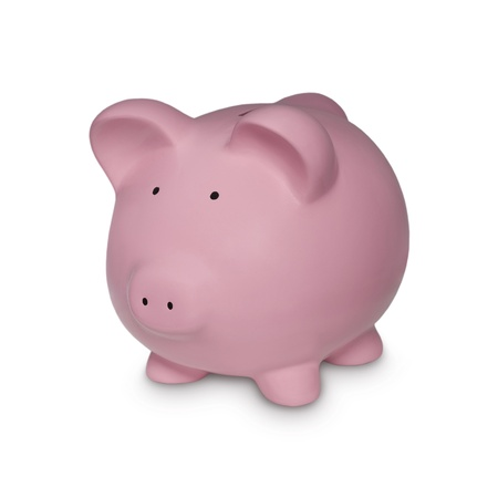 Piggy in Pink Symbol for Financial Concepts