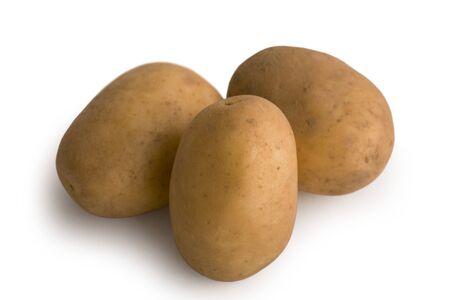 Fresh and Tasty Potatoes Isolated on White Background Stock Photo