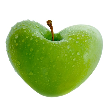 apple with carved heart, gorgeous crisp detail!