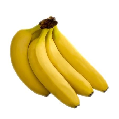 Yellow Fresh Banana Fruit Isolated on White Stock Photo