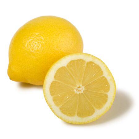 Fruits de citron frais isolées sur fond blanc Banque d'images - 8709164