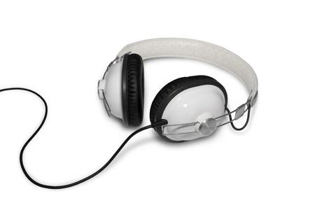 Classic Retro Head Set Phone Isolated on White