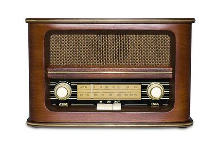 transistor: Funky Radio Retro con efecto espejo aislado en blanco