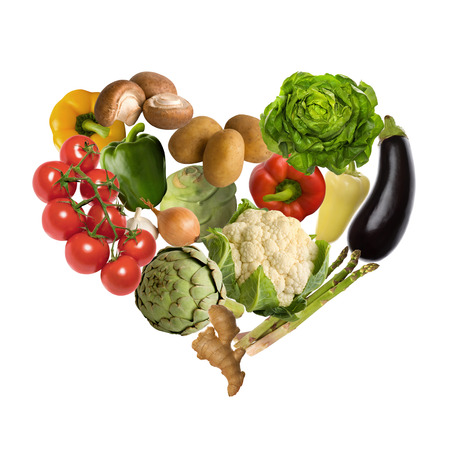 artichoke: Vegetable heart isolated on white background Stock Photo