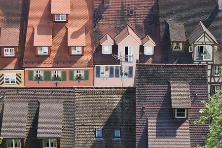 Hausdächer in Meersburg ### Roofs in Meersburg (Lake Constance) Stock Photo