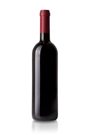 Bouteille de vin rouge isolé sur blanc Banque d'images - 45798892