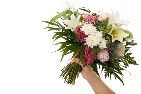 Boquet bouquet de fleur pour des Moments spéciaux isolé Banque d'images - 45798897