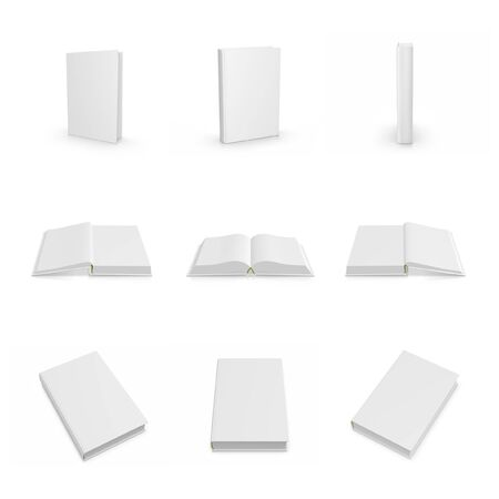 blank spaces: Blank Empty 3d Book Cover Isolated on White