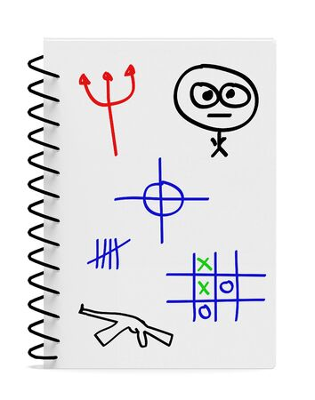 Enfants Enfants Boy Notebook avec Dessin Illustration Banque d'images - 45799295