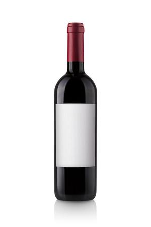 Bouteille de vin rouge isolé sur blanc Banque d'images - 45894945