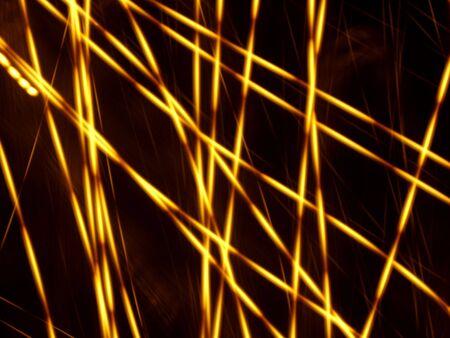 Orange light traces in the dark. (stock photo) Stock Photo