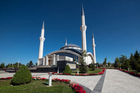 Ankara - May 23, 2014: Ahmet Hamdi Akseki Mosque. It is the largest and newest mosque in Ankara and known as VIP or Darth Vader Mosque. Sajtókép