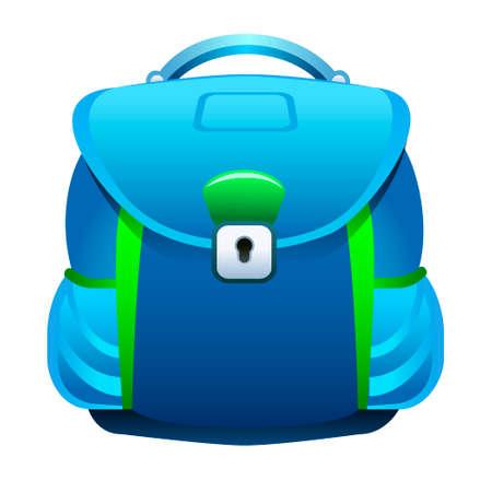 Een illustratie van schooltas