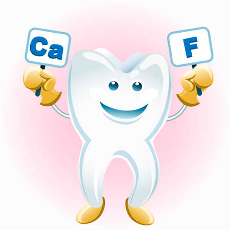 fluorine: A illustration of smiling tooth