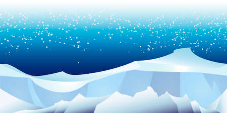 intact: horizontal seamless pattern with arctic glacier landscape