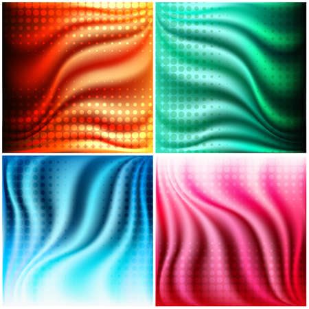 half tone: Set of abstract fold texture background with half tone overlay. Isolated on white background.