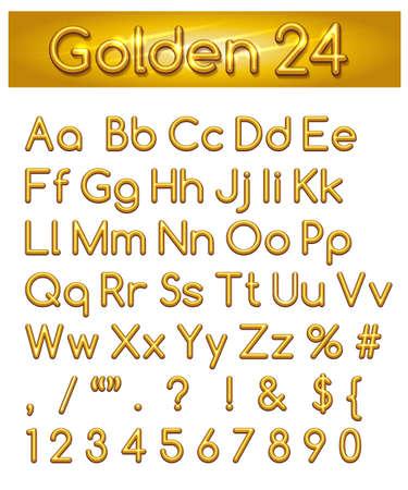 Hand tekenen kleurrijke alfabet. Letters, leestekens en cijfers. Geïsoleerd op witte achtergrond Stock Illustratie