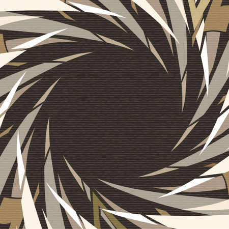 texture twisted: Abstract geometrical background. Twisted shapes and whirlpool elements on cardboard texture.