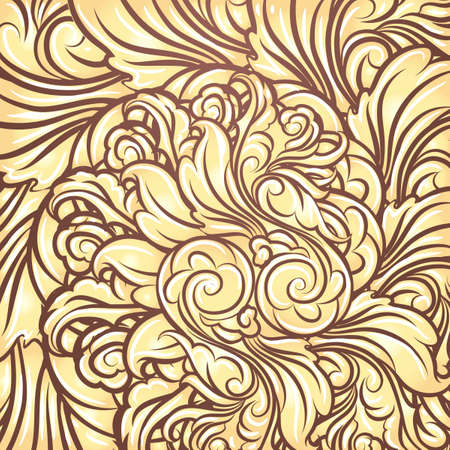 scrolling: Background with scrolling golden Leaves.