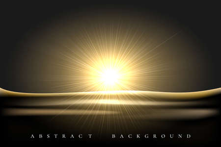 Shining Star rising over desert landscape black background. Vector illustration 版權商用圖片 - 131008229