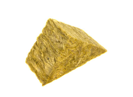 Stone mineral wool insulation on a white background Stock Photo