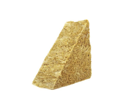 Mineral wool triangle isolated on white background