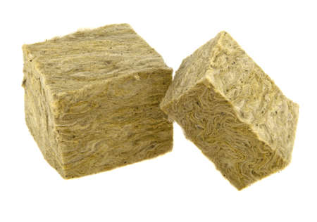 mineral wool isolated on white background