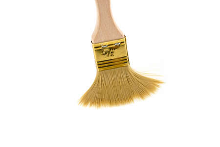 Wooden brush on white background Foto de archivo