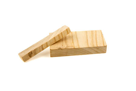 Two wooden boards on a white background