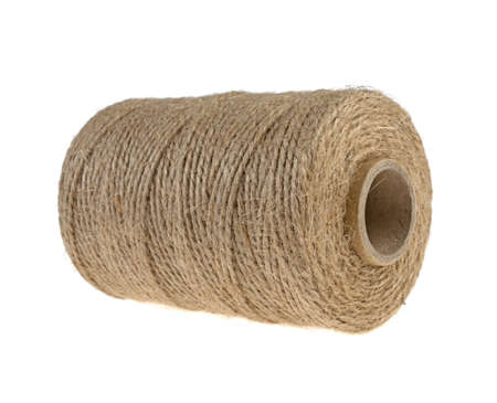 bobbin, a skein of a rope twine isolated on a white background Stock Photo