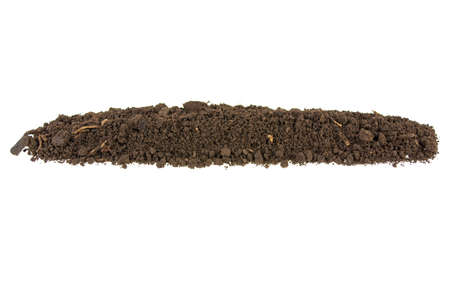 pile of soil, earth on white background 写真素材
