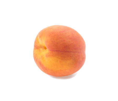 ripe juicy peach isolated vine on white background Banque d'images