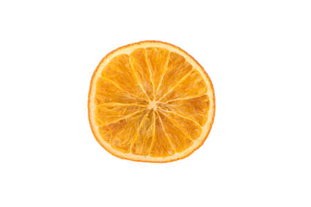 orange peel slice isolated on white background Фото со стока