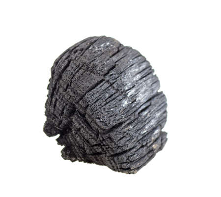 Hardwood charcoal isolated on a white background. Natural wood charcoal.