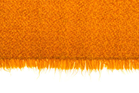 Edge, fabric texture on a white background, isolated.