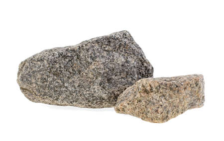 natural granite stone on a white background, isolated