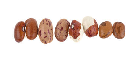 Different types of beans on a white background, isolated. 스톡 콘텐츠