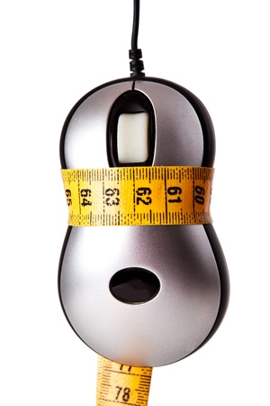 computer mouse shaped with measuring tape