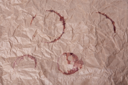 paper stained with wine circle shapes photo
